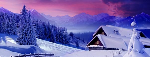 Paesaggio invernale per gli auguri di Ambrovit