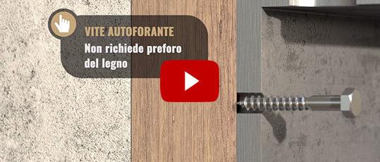 tirafondo ambrovit utilizzato senza pre bucare il legno