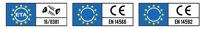 loghi delle certificazioni Eta e Uni